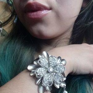Jewelry - Adjustable Flower Statement Bracelet